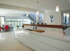 Large open plan kitchen for entertaining and views