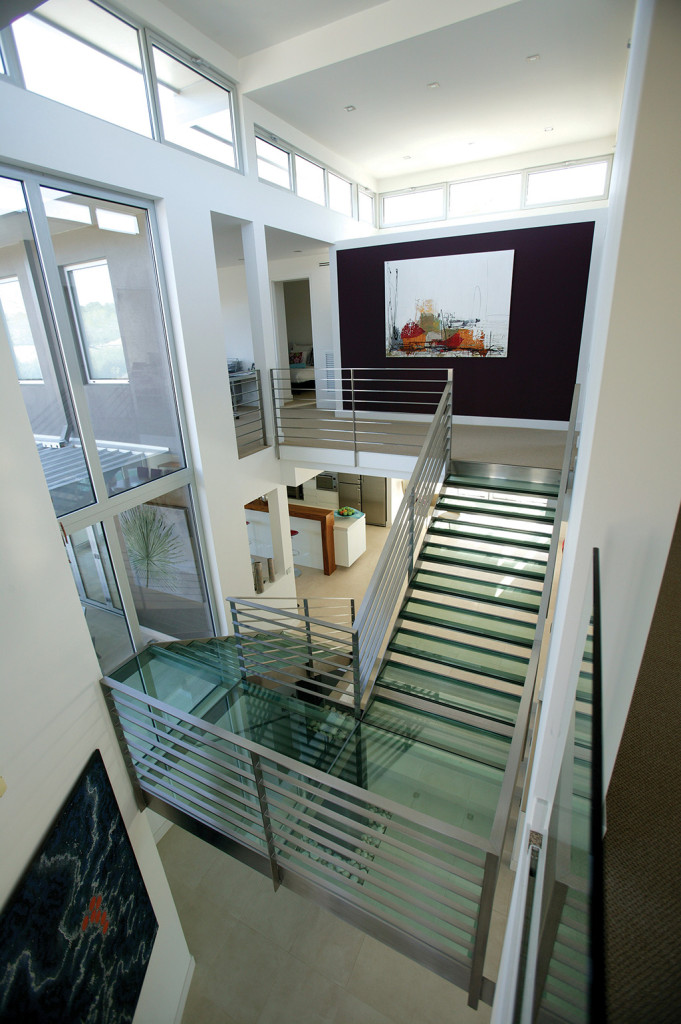 Glass Stair Towers : Brown street house strine environments