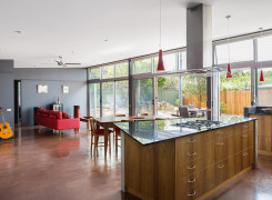 Light filled open plan Living, Dining and kitchen area