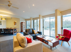 North facing open plan living/ dining and kitchen