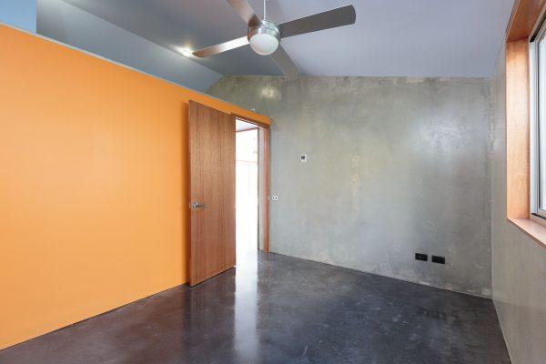 03 - Strine Design - Canberra builder - Strine Environments - Solstice House 1 - internal - prefabricated concrete bedroom
