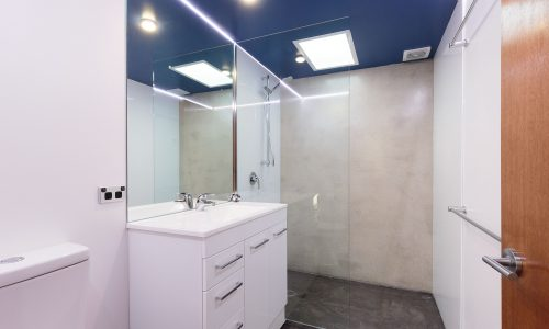 07 - Strine Design - Canberra builder - Strine Environments - Solstice House 1 - internal - prefab concrete bathroom
