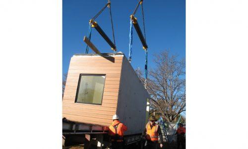 09 - Strine environments - Ecokit modular home - dickson ACT - canberra architect - canberra builder - modular installation with crane
