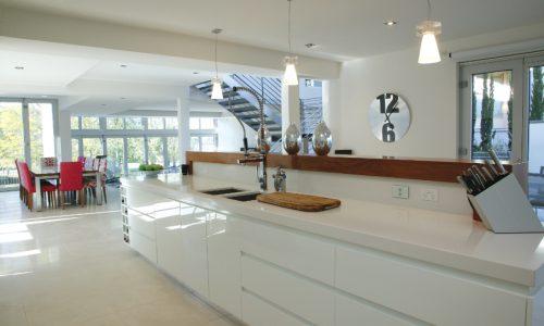 12 - Yarralumla Bay House - Sustainable house - Strine Design - kitchen perspective