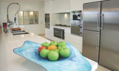 13 - Yarralumla Bay House - Sustainable house - Strine Design - kitchen fruit bowl copy