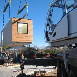 14 - Strine environments - Ecokit modular home - dickson ACT - canberra architect - canberra builder - prefab concrete installation