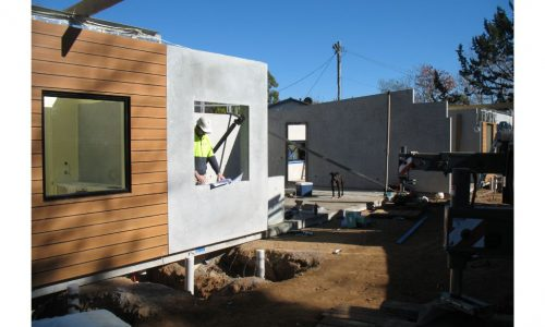 15 - Strine environments - Ecokit modular home - dickson ACT - canberra architect - canberra builder - prefab installation window double glazing