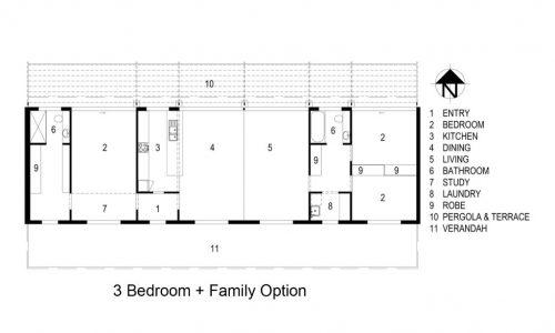 19 - Strine environments - Ecokit modular home - dickson ACT - canberra architect - canberra builder - prefab concrete modular home floorplan
