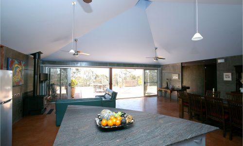 03 - Lake George House - Strine Design - Strine Environments - Best Canberra Builder - Green Architect Canberra - Precast concrete benchtop - Precast kitchen