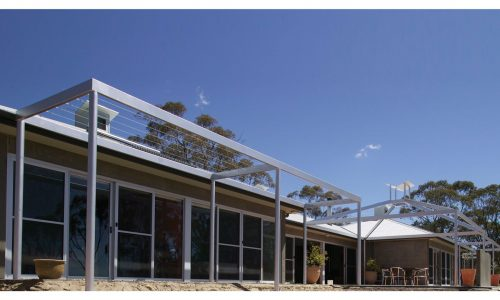 06 - Lake George House - Strine Design - Strine Environments - Best Canberra Builder - Green Architect Canberra - passive solar house with pergola