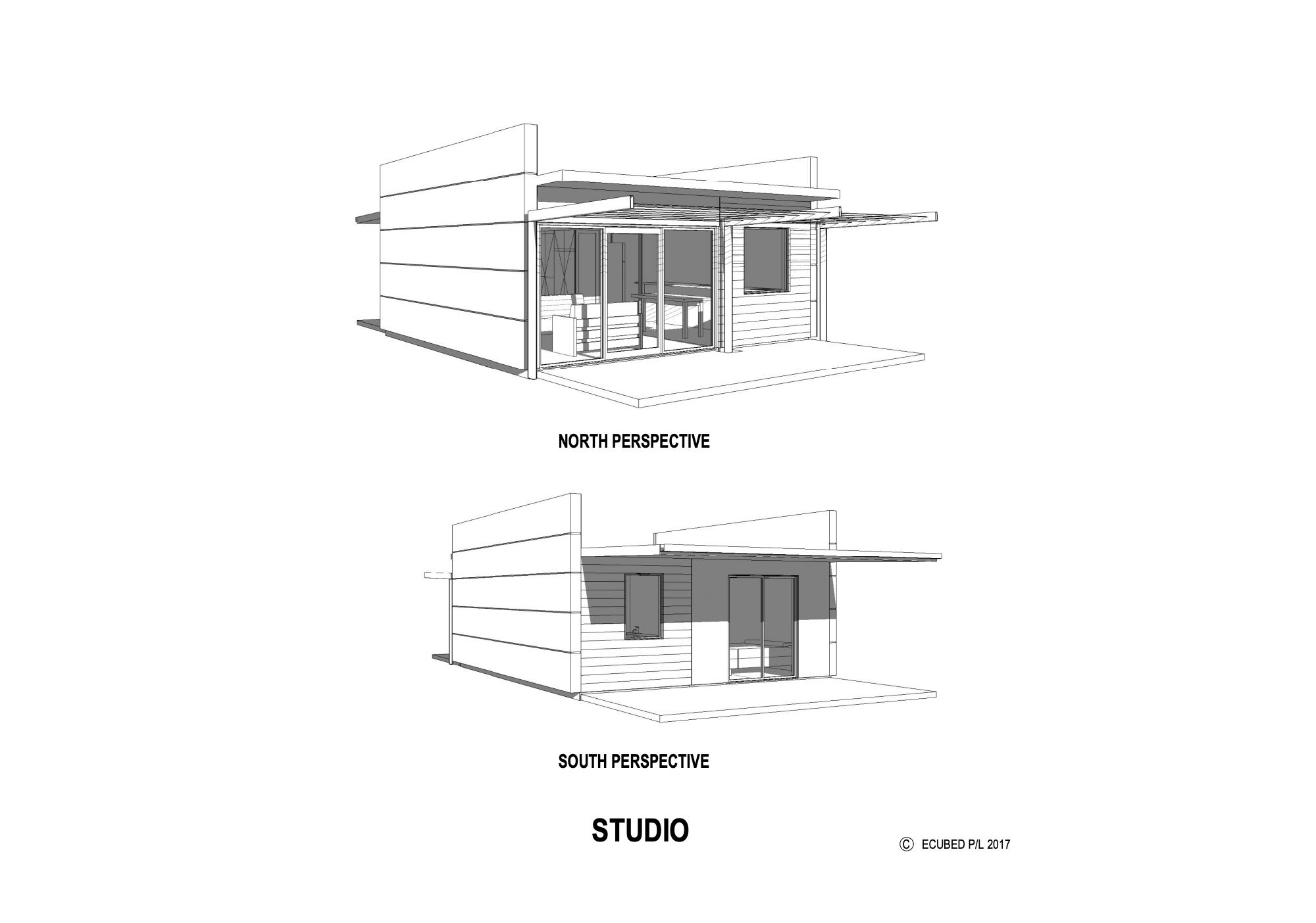 Ecubed studio prefab